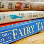 Pile of books including fairytales